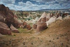 Formazioni rocciose di Cappadocia Immagini Stock Libere da Diritti
