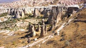 Formazioni rocciose di Cavusin Fotografia Stock Libera da Diritti