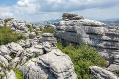 Formazioni rocciose di EL Torcal Immagini Stock