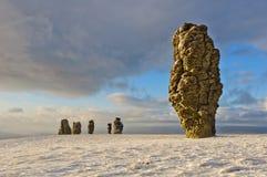 Formazioni rocciose di Manpupuner immagini stock libere da diritti