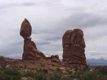 Formazioni rocciose di Moab Immagine Stock