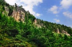 Formazioni rocciose di Teplice, Repubblica ceca Immagini Stock Libere da Diritti