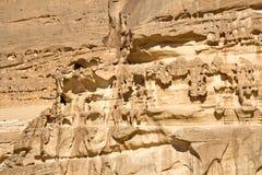 Formazioni rocciose esposte all'aria Immagini Stock Libere da Diritti