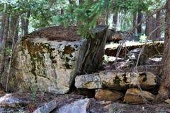 Formazioni rocciose nel lago canyon di legni, la contea di Coconino, Arizona, Stati Uniti immagini stock