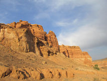 Formazioni rocciose nel parco nazionale di Charyn del canyon (Sharyn) Fotografia Stock Libera da Diritti