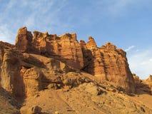 Formazioni rocciose nel parco nazionale di Charyn del canyon (Sharyn) Fotografie Stock Libere da Diritti