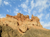 Formazioni rocciose nel parco nazionale di Charyn del canyon (Sharyn) Fotografia Stock