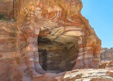 Formazioni rocciose nel PETRA Fotografia Stock