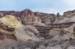 Formazioni rocciose nel Quebrada de las Conchas, Argentina Immagine Stock Libera da Diritti