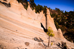 Formazioni rocciose Paisaje lunare Immagini Stock Libere da Diritti