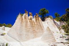 Formazioni rocciose Paisaje lunare Fotografie Stock Libere da Diritti