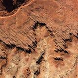 Formazioni rocciose a partire da spese generali fotografia stock libera da diritti