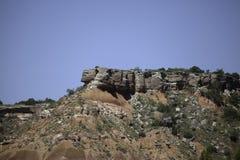 Formazioni rocciose rosse e bianche immagine stock