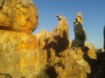 Formazioni rocciose rosse e bianche Immagini Stock Libere da Diritti