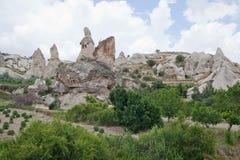 Formazioni rocciose rosse e bianche Fotografia Stock