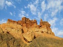 Formazioni rocciose rosse e gialle del muretto a secco Fotografia Stock Libera da Diritti