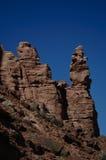 Formazioni rocciose rosse surreali Fotografia Stock Libera da Diritti