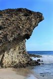 Formazioni rocciose sulla spiaggia a Almeria, Spagna Fotografia Stock Libera da Diritti