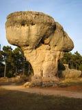 Formazioni rocciose uniche in città incantata La di Cuenca, Castiglia Fotografia Stock Libera da Diritti