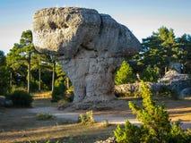 Formazioni rocciose uniche in città incantata La di Cuenca, Castiglia Fotografie Stock Libere da Diritti
