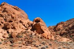 Formazioni rocciose in valle di fuoco Fotografie Stock