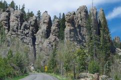 Formazioni rocciose verticali Fotografia Stock Libera da Diritti