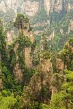 Formazioni rocciose verticali di Zhangjiajie Forest Park nazionale, Hu Fotografia Stock Libera da Diritti