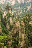 Formazioni rocciose verticali di Zhangjiajie Forest Park nazionale, Hu Immagini Stock