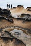 Formazioni rocciose Yehliu Geopark Taiwan immagine stock