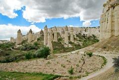 Formazioni vulcaniche Cappadocia - in Turchia Immagine Stock