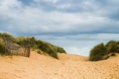 Formby-Strand nahe Liverpool an einem sonnigen Tag Stockfoto