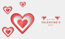 Forme élégante de coeur pour la célébration de Saint-Valentin Images stock