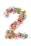 Forme élastique colorée numéro deux de bandes élastiques Images libres de droits