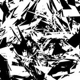 Forme énervée géométrique, modèle EL texturisé géométrique rugueux et énervé illustration libre de droits