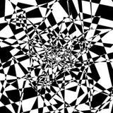 Forme énervée géométrique, modèle EL texturisé géométrique rugueux et énervé illustration stock