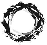 Forme énervée géométrique, modèle EL texturisé géométrique rugueux et énervé illustration de vecteur