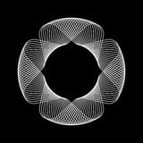 Forme abstraite blanche de fractale Image libre de droits