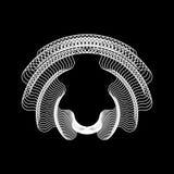 Forme abstraite blanche de fractale Photographie stock libre de droits