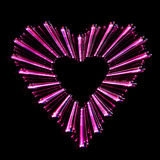 Forme abstraite de coeur Photo stock