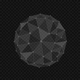Forme abstraite de globe illustration de vecteur