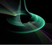 Forme abstraite de ratation de fractale Photo stock