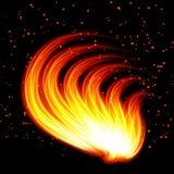 Forme abstraite du fond-feu Image libre de droits