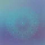 Forme abstraite géométrique avec les lignes et les points reliés Illustration de vecteur illustration de vecteur