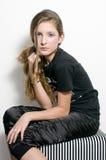 Forme al adolescente con los latigazos especiales del ojo imagen de archivo libre de regalías