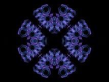 Forme astratte blu e fondo nero Fotografia Stock