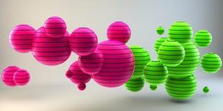 Forme astratte 3d su fondo immagine 3d rappresentazione 3d Fotografia Stock Libera da Diritti