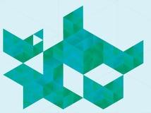 Forme astratte del triangolo Fotografie Stock
