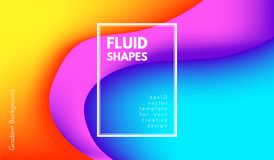 Forme astratte di colore di Wave con effetto 3d Illustrazione Vettoriale