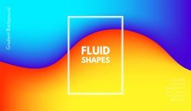 Forme astratte di colore di Wave con effetto 3d Illustrazione di Stock
