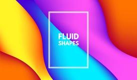 Forme astratte di colore di Wave con effetto 3d Royalty Illustrazione gratis